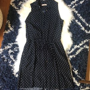 banana republic • polka dot dress